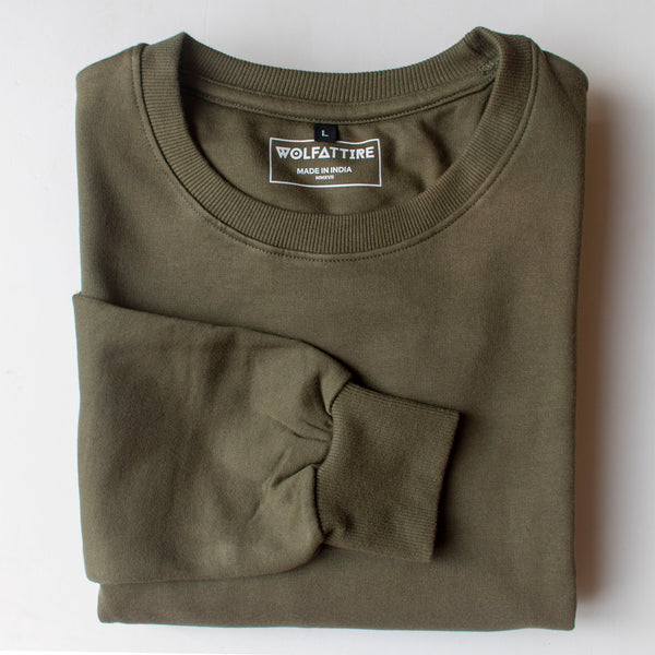 Army Green Sweatshirt for Men