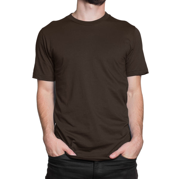 dark brown t-shirt | chocolate brown t-shirt for Men online Wolfattire India