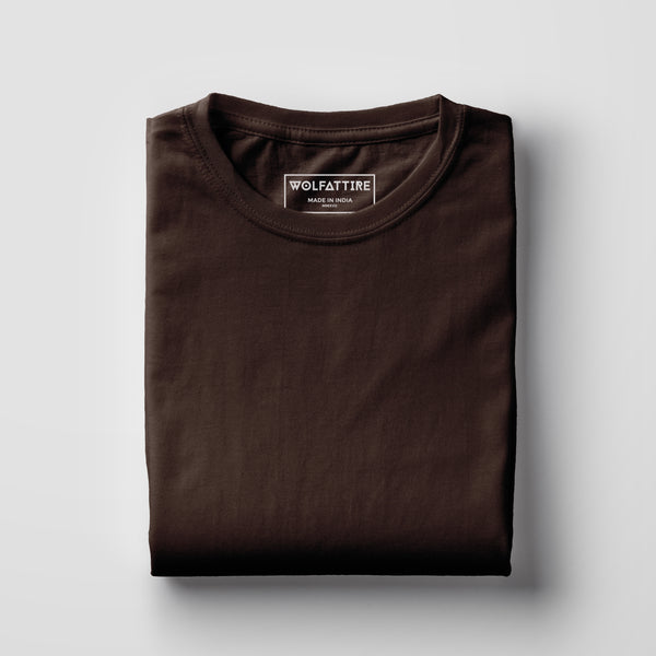 brown t-shirt | chocolate brown t-shirt for Men online in Wolfattire India