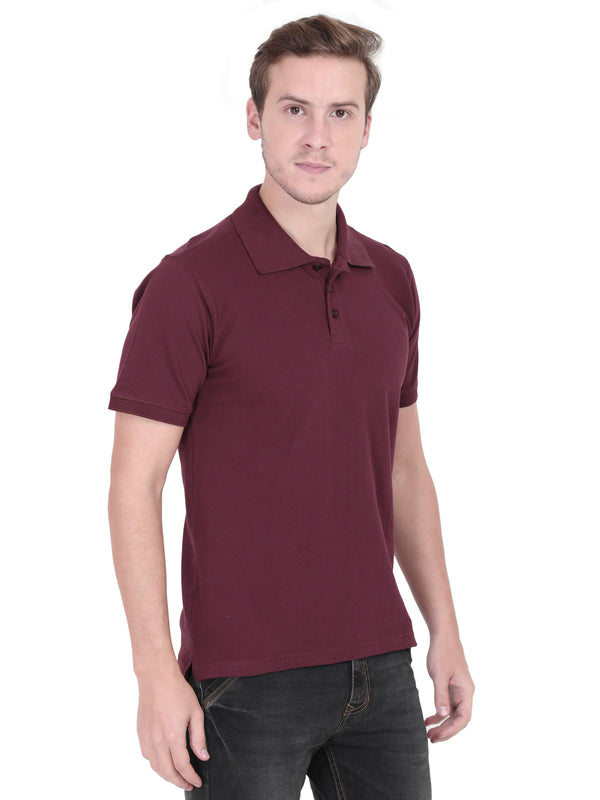 Burgundy Polo T-Shirt for Men