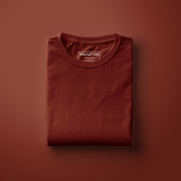 Crimson Half Sleeve T-Shirt for Men