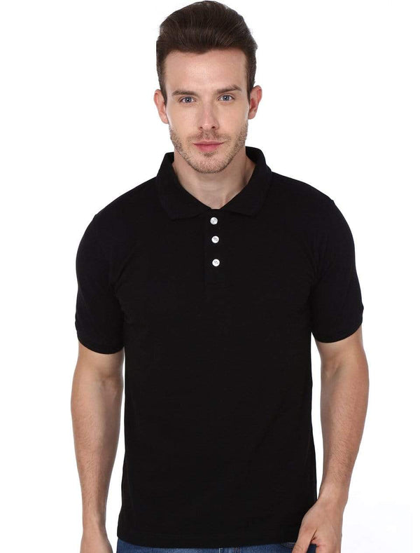 polo Men's Polo T-shirt Black wolfattire