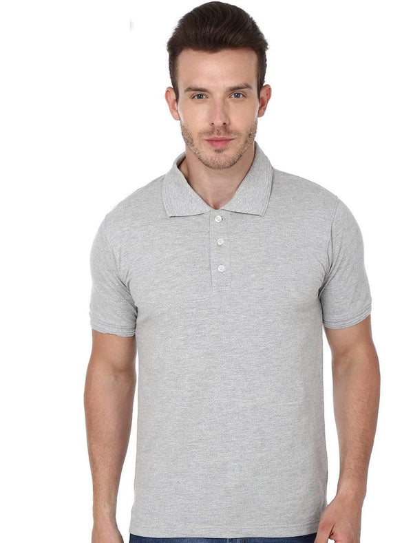polo Men's Polo T-shirt Grey wolfattire