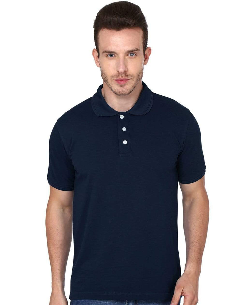 polo Men's Polo T-shirt Navy Blue wolfattire