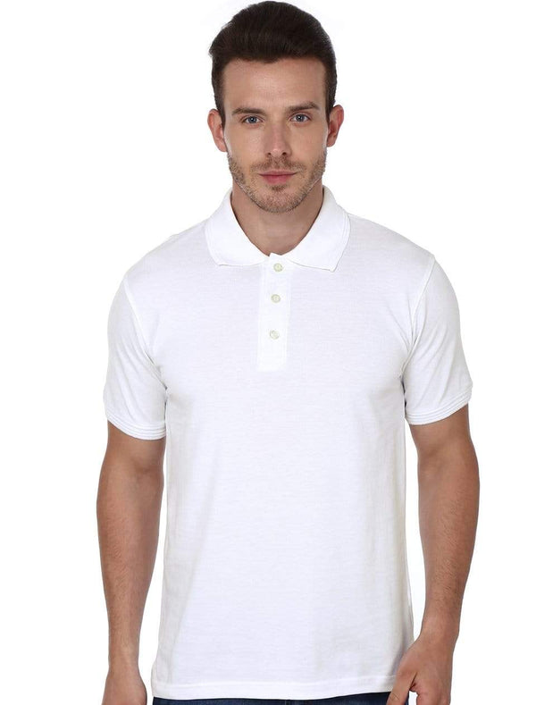 polo Men's Polo T-shirt White wolfattire