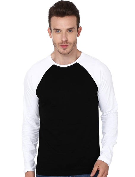 RAGLAN Men's Raglan Black and White wolfattire