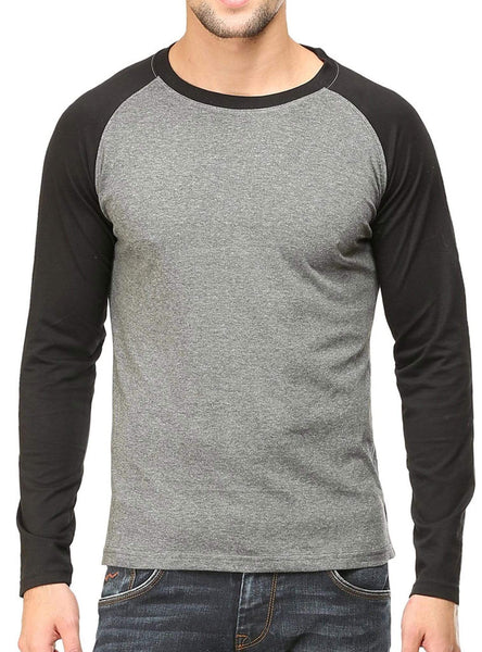 RAGLAN Men's Raglan Black Charcoal wolfattire