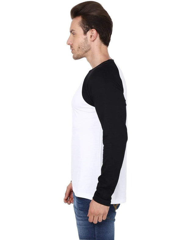 RAGLAN Men's Raglan White and Black wolfattire