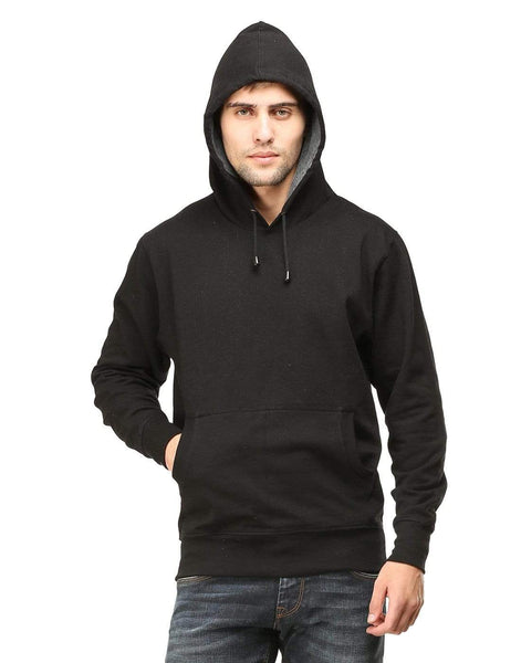 Hooded Sweatshirt Men's Regular Fit Hooded Sweatshirt - Black wolfattire