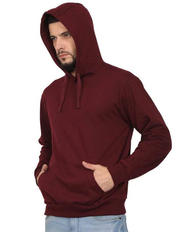 Hooded Sweatshirt Men's Regular Fit Hooded Sweatshirt - Maroon wolfattire