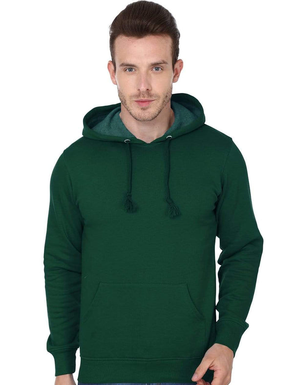 Hooded Sweatshirt Men's Regular Fit Hooded Sweatshirt - Olive Green wolfattire