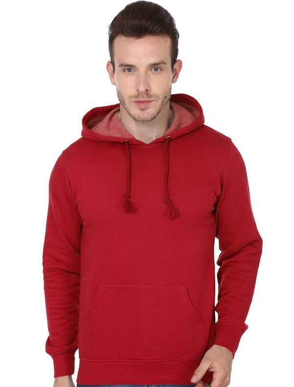 Hooded Sweatshirt Men's Regular Fit Hooded Sweatshirt - Red wolfattire