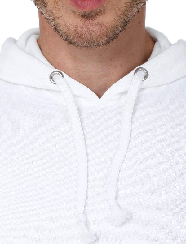Hooded Sweatshirt Men's Regular Fit Hooded Sweatshirt - White wolfattire