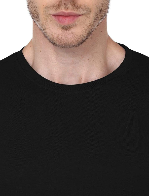 Men's round neck black full sleeves t-shirt wolfattire