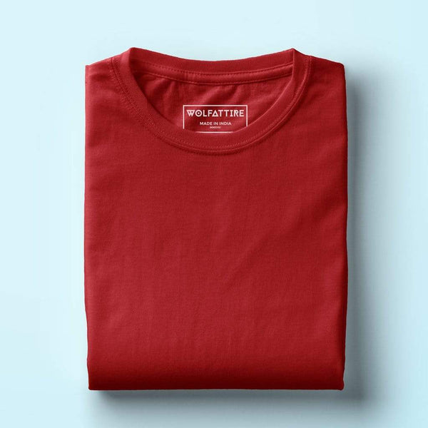 Red t-shirt for men | Buy plain red t-shirt online in India