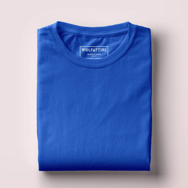 t-shirt Men's Round Neck Plain T-Shirt Royal Blue (Regular fit) wolfattire