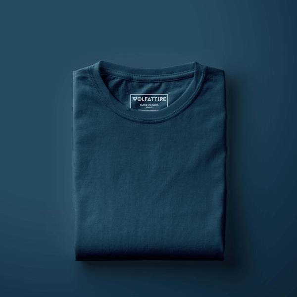 Midnight Blue Half Sleeve T-Shirt for Men