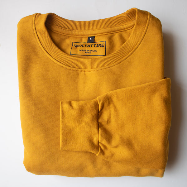 Mustard Yellow Sweatshirt for Men