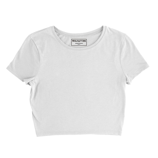 Plain White Crop Top wolfattire