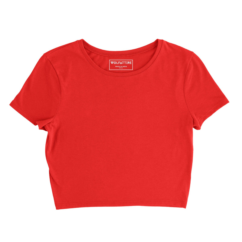 Red Plain crop top wolfattire