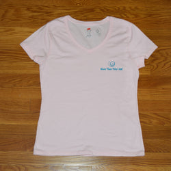 Women's Pink V-Neck Short Sleeve Shirt