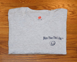 Short Sleeve T-Shirts with Spiral Below Lettering