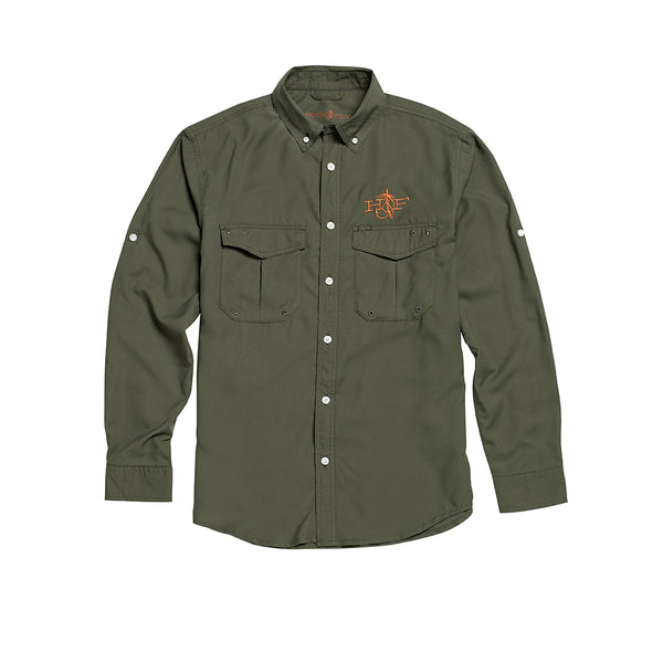H&F High Performance Button Down Shirt (Olive)