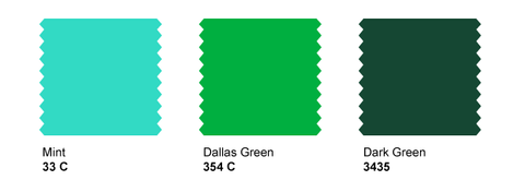 Strange Planet Stock Wilflex Colors for Plastisol - Mint 333C, Dallas Green, Dark Green
