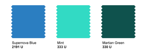 Strange Planet Stock Water Based Inks - light blue, 333c mint, martian green