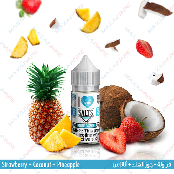 I Love Salts Nicotine Salt eJuice - Pacific Passion - vaporclub