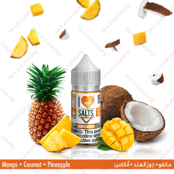 I Love Salts Nicotine Salt eJuice - Tropic Mango - vaporclub