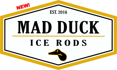 Mad Duck Vinyl Sticker (White)