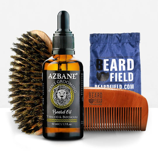 Beard Comb & brush with Beard Oil Sample | Men's Grooming Kit  Starter