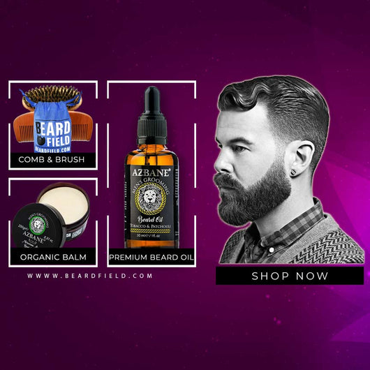 PROMO Organic Beard Care Kit | Balm + Beard Oil + Beard Brush & Comb