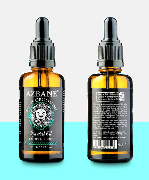 Premium Organic Beard Oil  - Laurel & Incense