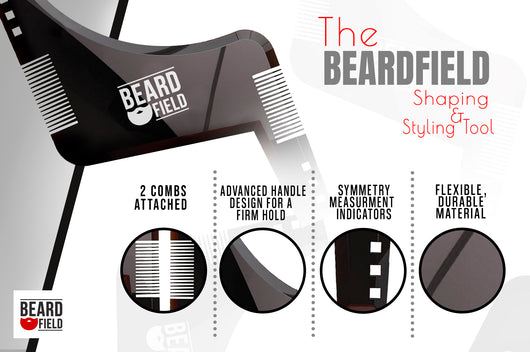 Beard shaping and  styling tool for perfect neck line and top lines - Double-sided