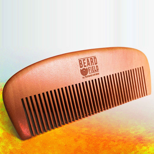 Wooden Beard Comb  | Natural pearwood - Anti-static
