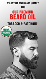 Premium Organic Beard Oil  - Tobacco & Patchouli