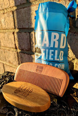 Best Boar Bristles Beard Brush and Wooden Comb Set!