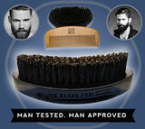 Beard Brush for Men - 100% Pure Wild Boar Hair - Beard and Mustache care