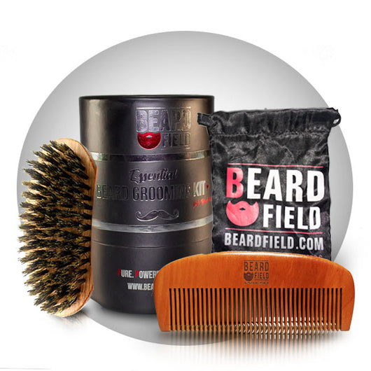 Beard Brush and Beard Comb Set for Bearded Men | Grooming Like a Pro | Beardfield