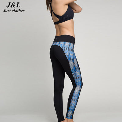 MALLA Color Band Sport Yoga Workout Leggings for Women