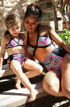 Floral Print Mommy and Me Bikini Set