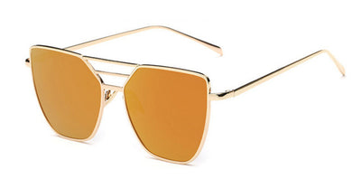 Women's Reflective Flat Top Sunglasses