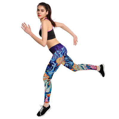 New at Everly-Grace for 2018 - Active Workout Leggings in Floral Print