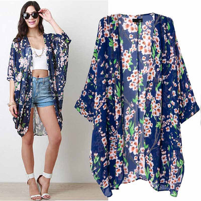 EVERTON Floral Print Chiffon Swimwear Cover Up - Byrne Berlin