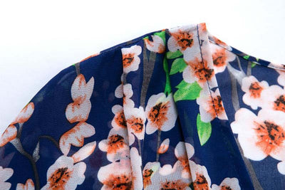 Floral Print Chiffon Swimwear Cover Up
