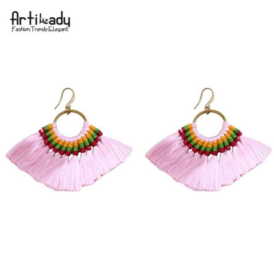 YANA Bohemian Colorful Tasseled  Earrings 2018 Fresh Finds - Byrne Berlin