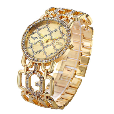 RUE DE LUXE' Crystal Collection Two - Crystal Quartz Dressy Women's Watch - Byrne Berlin