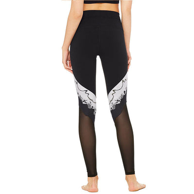ALLEGRETTO Chic Black and White Accent Print Leggings - Byrne Berlin
